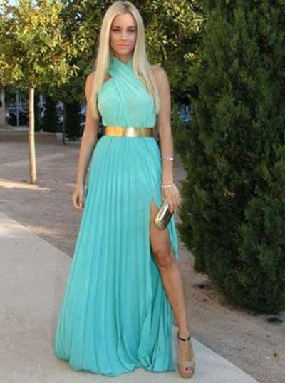 vestidos azuis