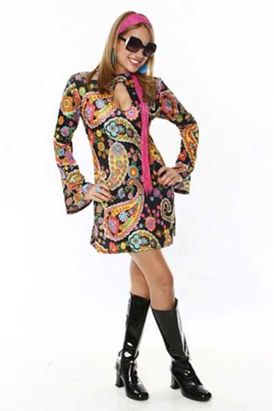 Como usar vestidos anos 70 fotos modelos looks dicas - Moda hippie anos 70 ...