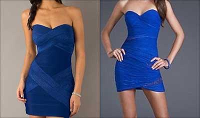dicas de vestidos azuis