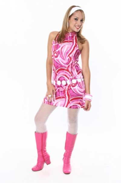tendências de vestidos anos 70