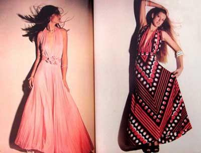 vestidos anos 70