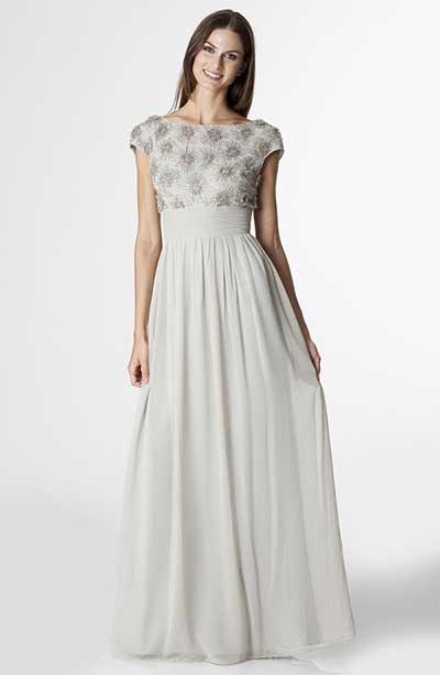 Molde de vestido de festa longo