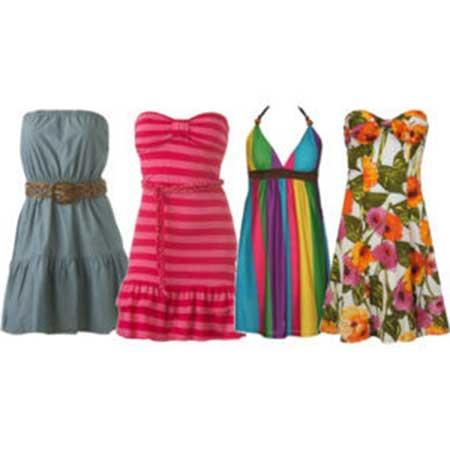 fotos de vestidos coloridos