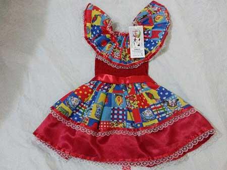 vestidos de quadrinha