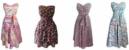 vestidos de tecidos