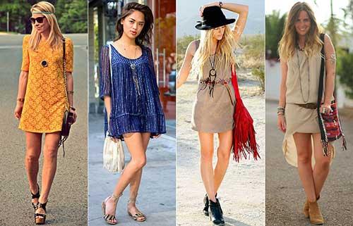 modelos de vestidos hippies