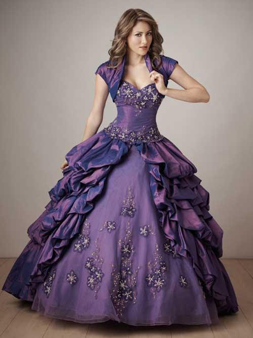 Fotos de vestidos de festa cor roxa