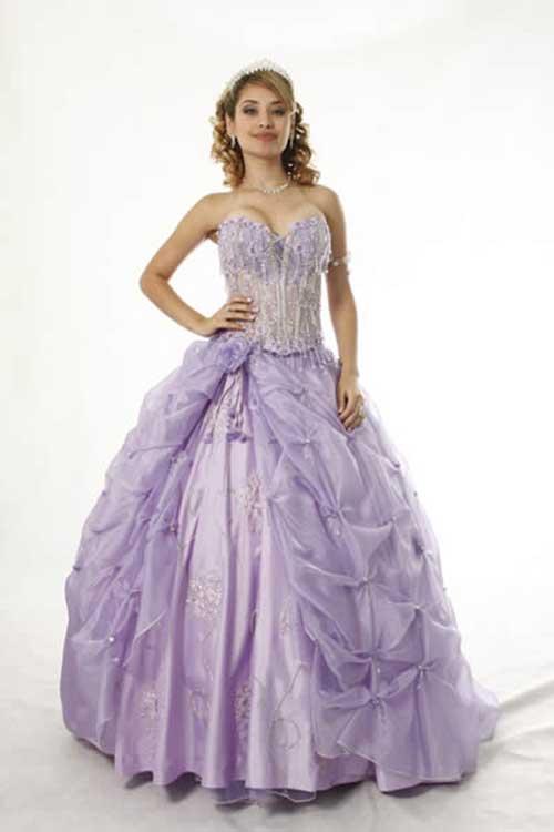 vestidos para debutante longo tomara que caia lilás